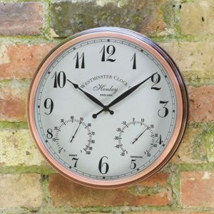 Smart Garden Outside In Henley Wall Clock and Thermometer