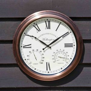 Outside In Mollington Wall Clock and Thermometer