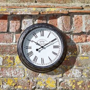 Smart Garden Outside In Biarritz Wall Clock - Black