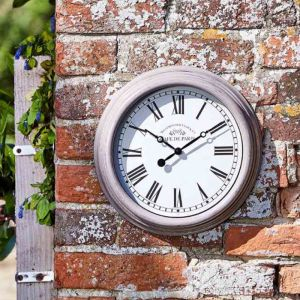Outside In Biarritz Wall Clock - Grey
