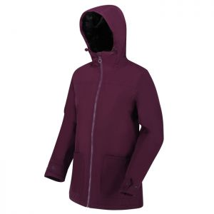 Regatta Women's Bergonia II Waterproof Hooded Jacket – Dark Burgundy