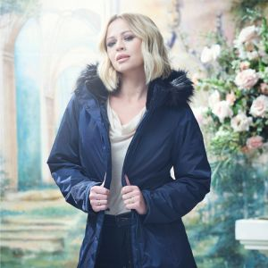 Kimberley Walsh X Regatta Women's Lexis Waterproof Fur Trimmed Parka Jacket - Navy