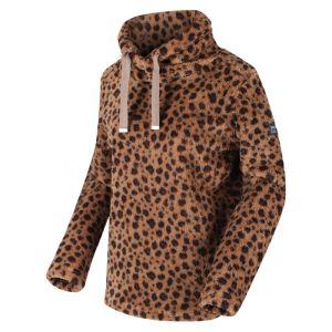 Regatta Women's Hannelore Overhead Fluffy Fleece - Leopard