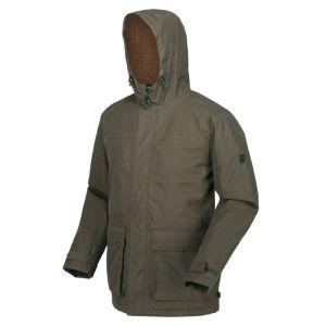 Regatta Men's Sterlings II Waterproof Hooded Jacket – Dark Khaki