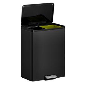 EKO EcoCasa III Pedal Bin, 20+20L – Black