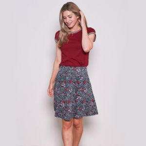 Brakeburn Women's Printed Skirt - Navy