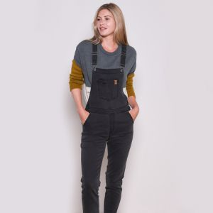 Brakeburn Women's Denim Dungarees - Navy