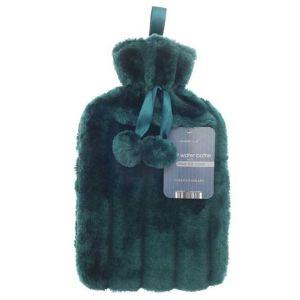 Country Club Luxury Faux Fur Hot Water Bottle – Green