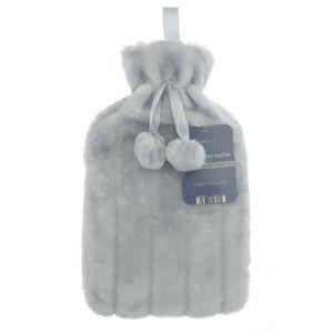 Country Club Luxury Faux Fur Hot Water Bottle – Light Grey