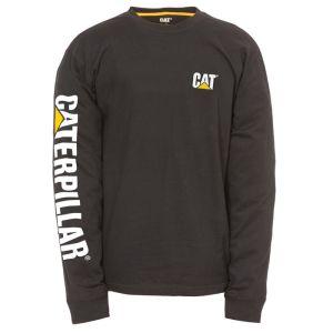 CAT Men's Trademark Banner Long Sleeve T-Shirt – Black