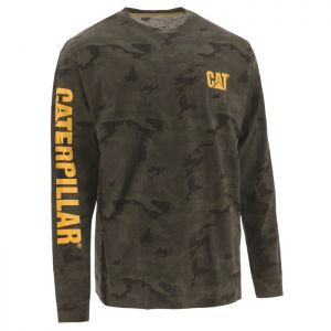 CAT Men's Trademark Banner Long Sleeve T-Shirt – Camouflage