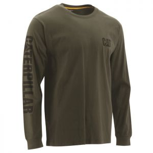 CAT Men's Trademark Banner Long Sleeve T-Shirt – Chive