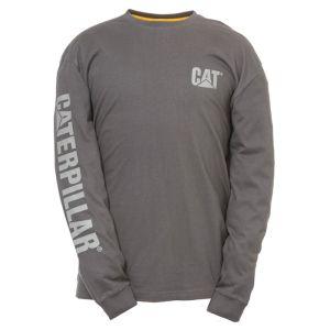 CAT Men's Trademark Banner Long Sleeve T-Shirt – Heather Grey