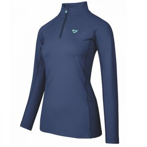 Shires Aubrion Women's Newbury Long Sleeved Base Layer - Navy