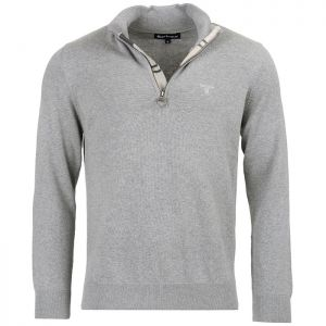 Barbour Cotton Half Zip Sweater - Grey Marl