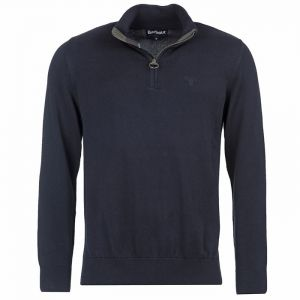 Barbour Cotton Half Zip Sweater - Navy