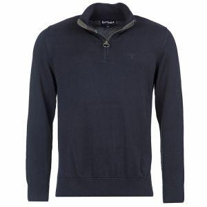 Barbour Cotton Half Zip Sweater - Navy