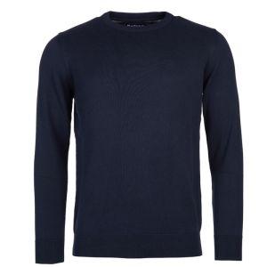 Barbour Men's Pima Cotton Crew Neck Sweater - Navy