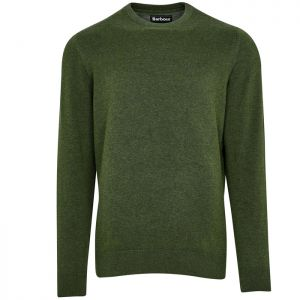 Barbour Men's Pima Cotton Crew Neck Sweater - Rifle Green