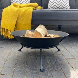 Black Cast Iron Fire Bowl - 57cm