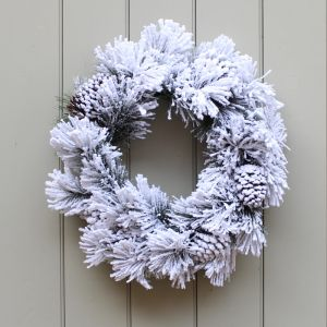 Premier 50cm Snow & Pinecone Lumi Wreath
