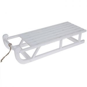 Pre-lit Sledge with Timer - 73cm