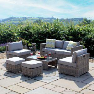 Leighton 6 Seater Garden Lounge Sofa Set