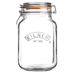 Kilner Square Clip Top Storage Jar - 2 Litres