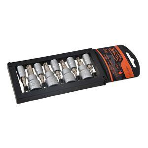 Tactix 9 Piece 1/4 & 3/8 Inch Drive Torx Bit Socket Rack