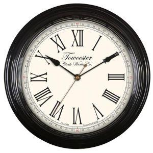 Acctim Redbourn Wall Clock - Black