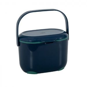 Addis Kitchen Compost Caddy, 2.5 Litres – Slate Blue / Sage Green