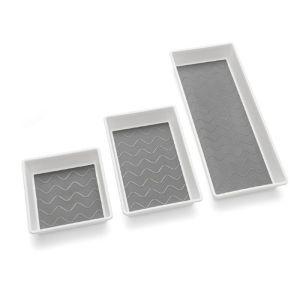 Addis Drawer Tidy, 3 Pack – White / Grey