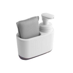 Addis Soap Dispenser & Sponge Holder – White / Grey