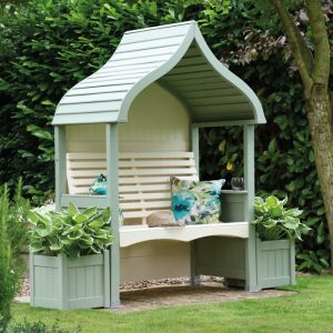 AFK Orchard Painted Arbour - Sage & Cream