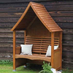 AFK Goodwood Stained Arbour - Beech Wood