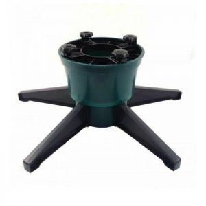 Airflow Needle Stop Watering Christmas Tree Stand, Green/Black - Large