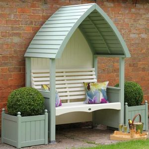 AFK Cottage Painted Arbour - Sage & Cream