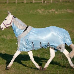 Gallop All in One Combo Fly Rug - Silver/Blue