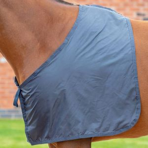 Shires Satin Anti-Rub Bib - Navy