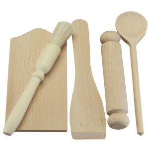 Apollo Beech Wood Children's Utensil Baking Set - 5 Piece