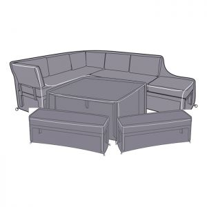 Hartman Apollo 9 Seater Casual Comfort Dining Set Protective Cover Set