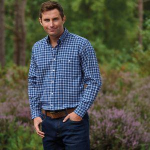 Champion Men's Ashbourne Long Sleeve Shirt - Blue