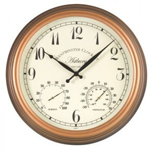 Outside In Astbury Wall Clock and Thermometer - Large