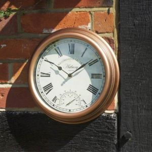 Smart Garden Outside In Astbury Wall Clock and Thermometer