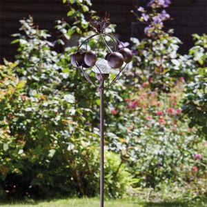 Smart Garden Aura Wind Spinner with Solar Crackle Ball