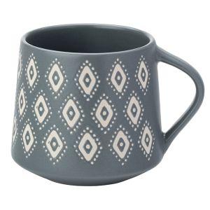 The English Tableware Company Artisan Aztec Stoneware Mug – Grey