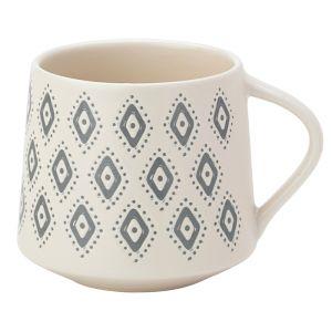 The English Tableware Company Artisan Aztec Stoneware Mug - Cream