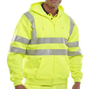 B-Seen Hi-Vis Hooded Sweatshirt - Yellow