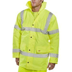 B-Seen High Vis Constructor Jacket - Yellow