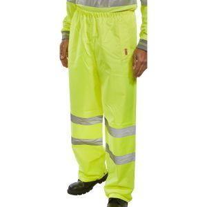 B-Seen High Vis Waterproof Trousers - Yellow